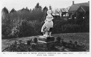 Postcard of Terra Nova's Figurehead