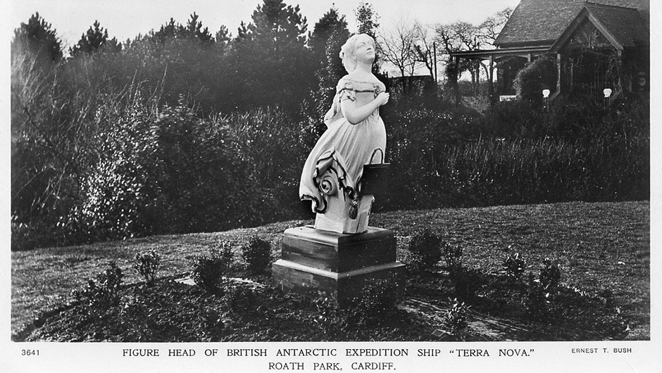 Roath Park and Captain Scott Terra Nova Figurehead
