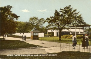 Bandstand and shelter, Roath Park. Collection of Anne Bell