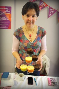 Rhiannon Parry and her cakes at the Oxfam Get Together Showcase