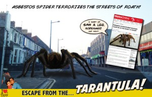 Escape from the tarantula!  Image copyright I Loves the 'Diff