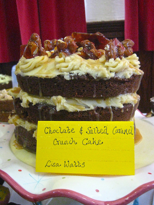 The winning cake - chocolate and salted caramel crunch