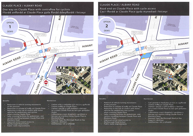 Claude Place/Albany Road proposals