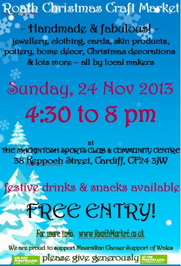 Roath Christmas Craft Market 2013