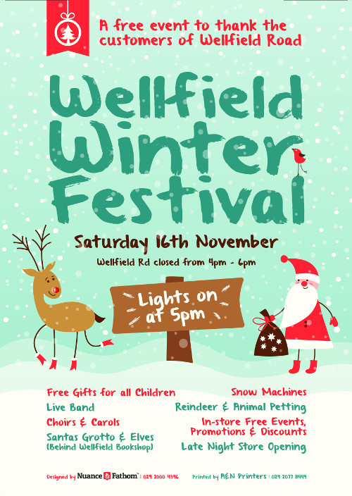 Wellfield Winter Festival poster