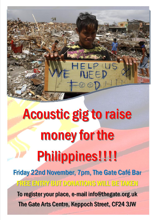 Philippines fundraising gig