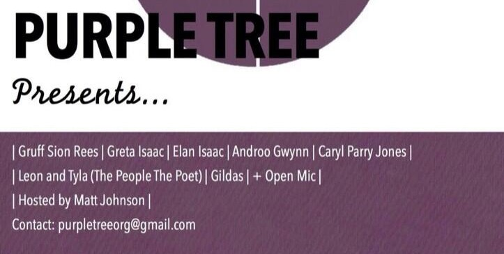 Purple Tree event flyer for the Gate 14 December 2013