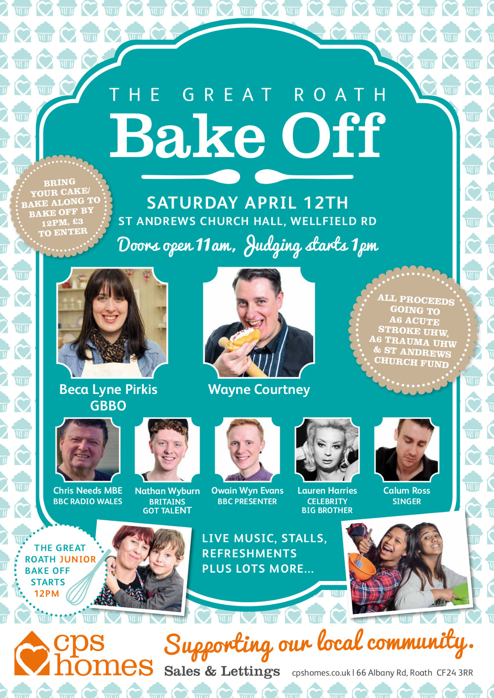 Great Roath Bake Off 2014, sponsored by CPS Homes