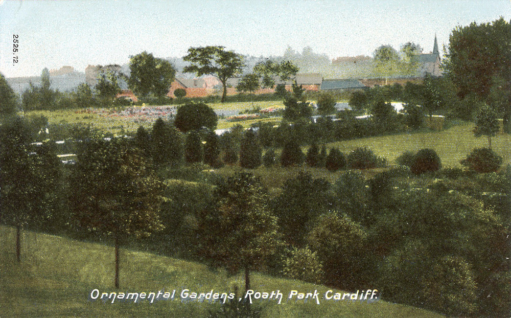 Ornamental Gardens, Roath Park, 1904