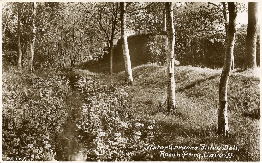 The Water Garden, Roath Park, 1936