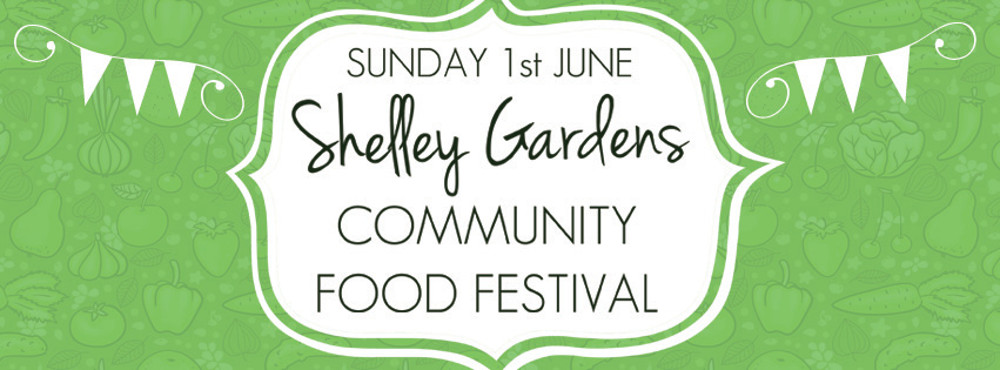 Shelley Gardens Food Festival banner