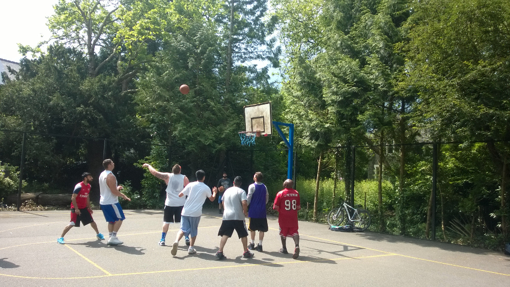 Roath Park basketball court