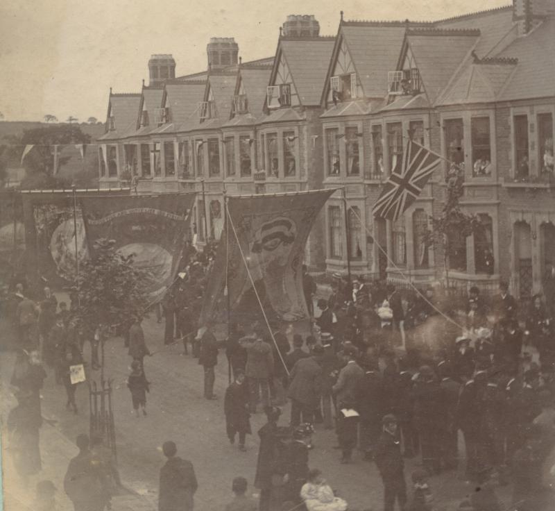 Wellfield Road Roath Park opening procession 1894
