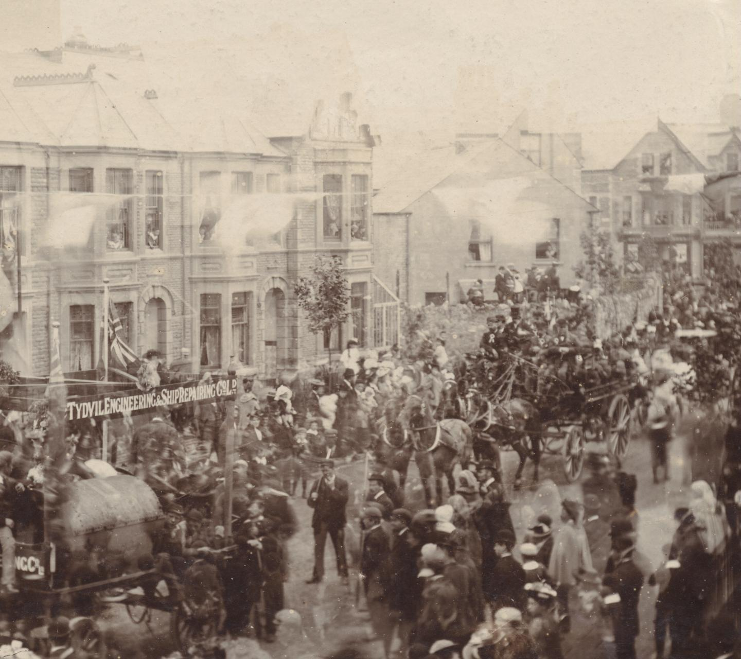 Wellfield Road procession 1894