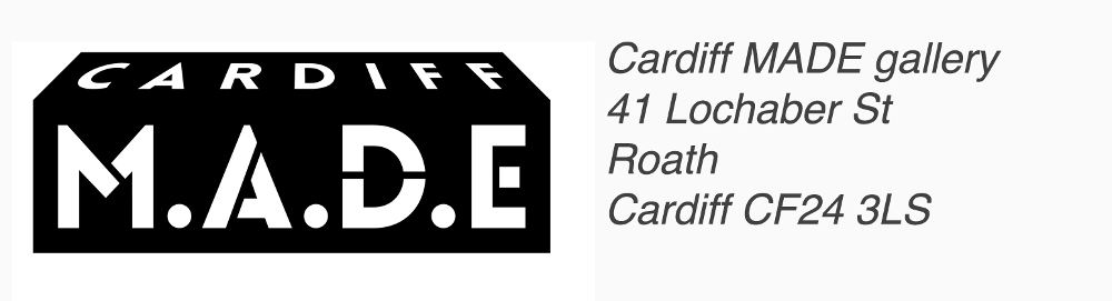 Cardiff MADE logo and address