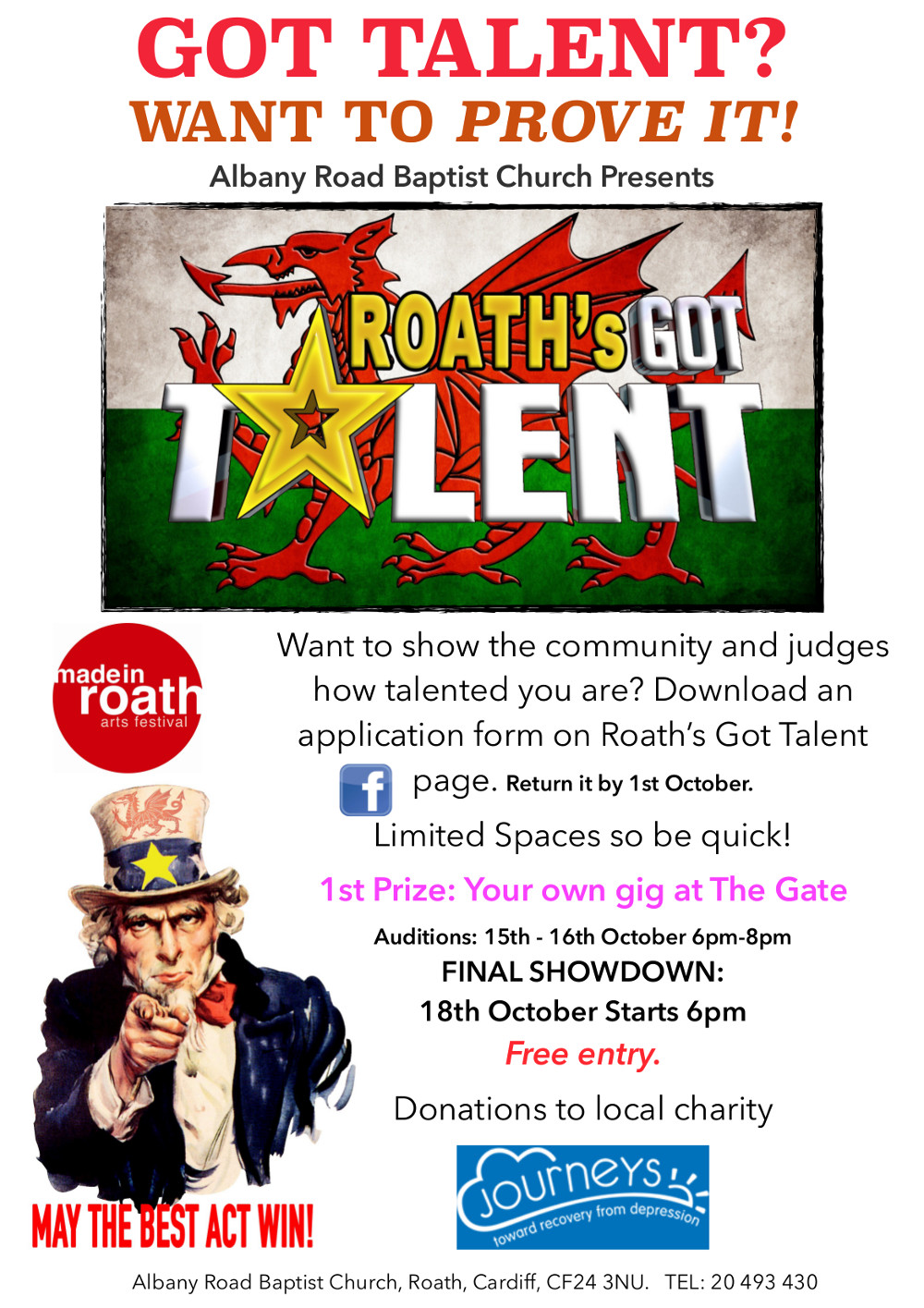 Roath's Got Talent Poster