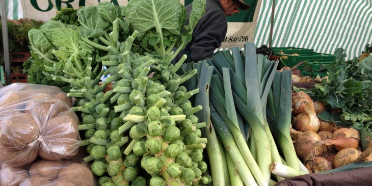 Christmas sprouts at Roath farmers' market