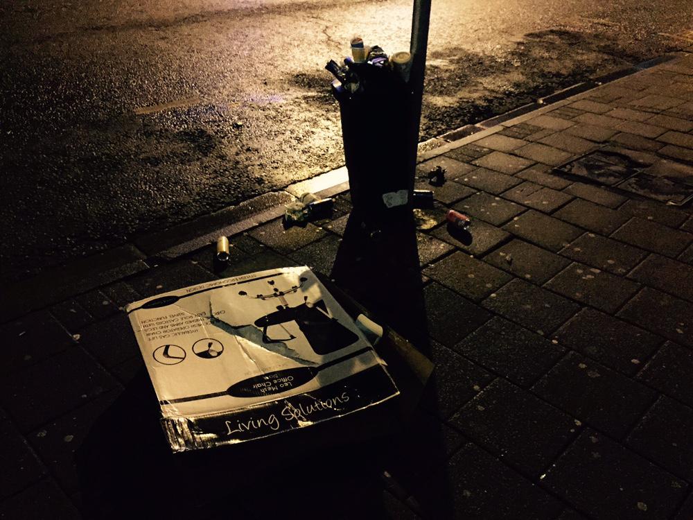 Rubbish at night