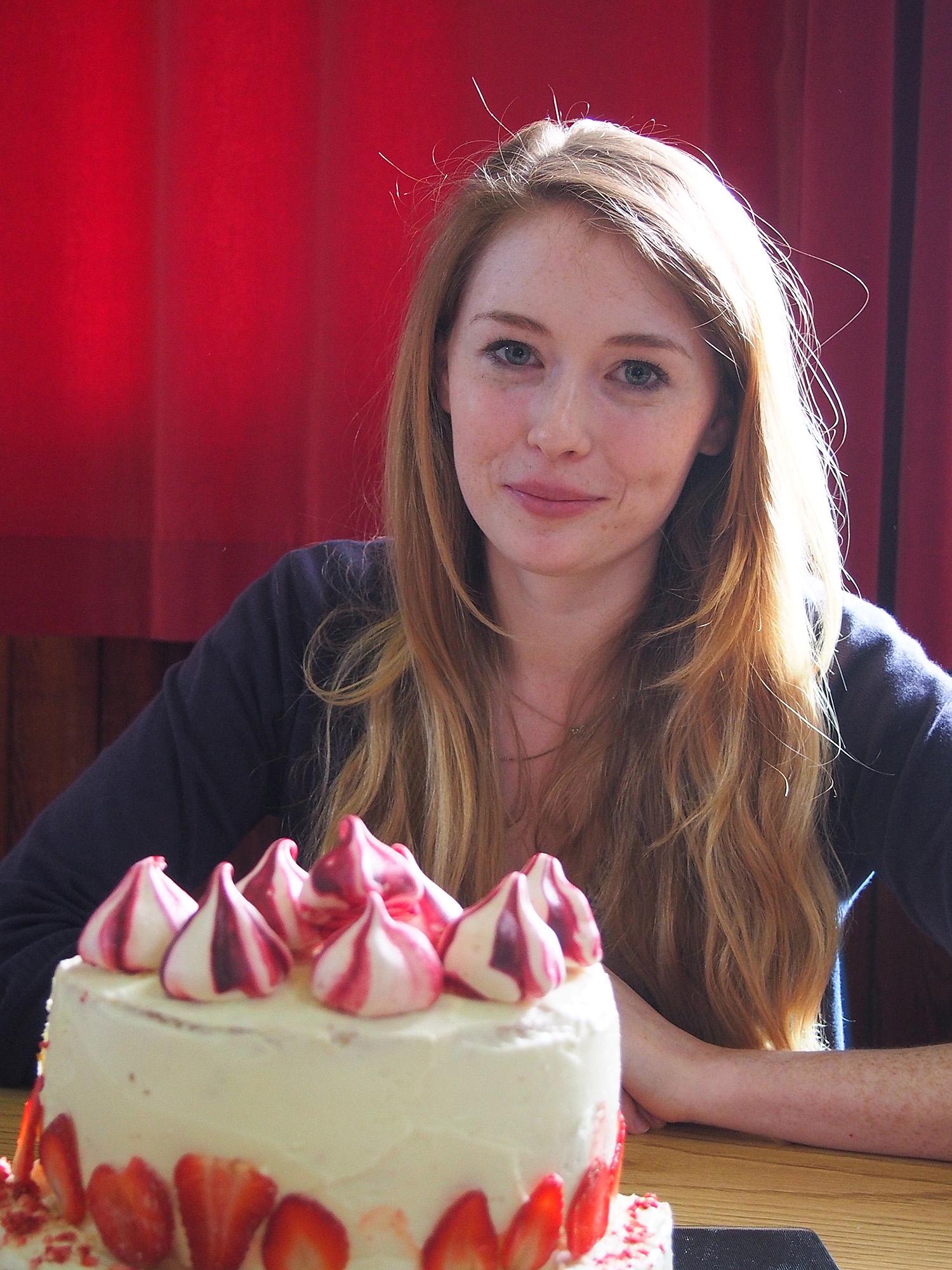 Bake off winner Kiryn Howard with her Eton Mess cake