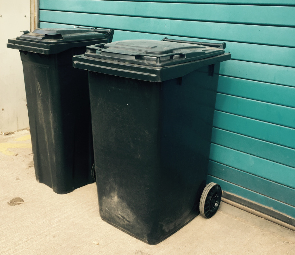 Bins old and new