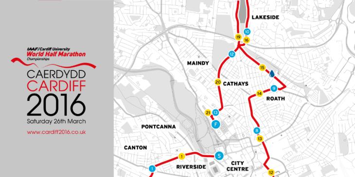 Cardiff Half Marathon 2016 March Map